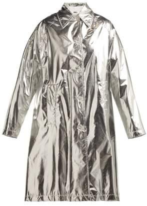 MM6 MAISON MARGIELA Metallic Rain Mac - Womens - Silver