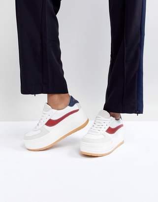 Sixty Seven SixtySeven White Leather Flatform Chunky Sneaker