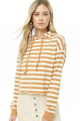 Forever 21 Striped Hooded Top