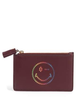 Anya Hindmarch Rainbow Smiley Leather Card Case