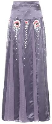 Temperley London Firebird satin skirt