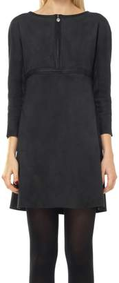 Max Studio Sueded Micro Double Knit Dress