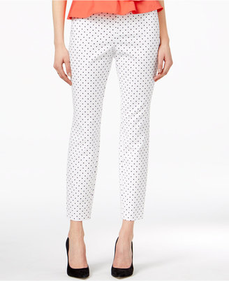 Maison Jules Polka-Dot Ankle Pants, Created for Macy's $49.50 thestylecure.com