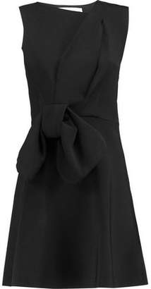 Victoria Beckham Victoria Bow-Embellished Stretch-Knit Mini Dress