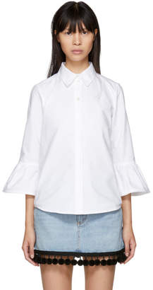 Marc Jacobs White Ruffle Sleeves Shirt