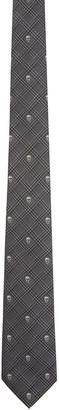 Alexander McQueen Grey Prince of Wales & Skull Tie $165 thestylecure.com
