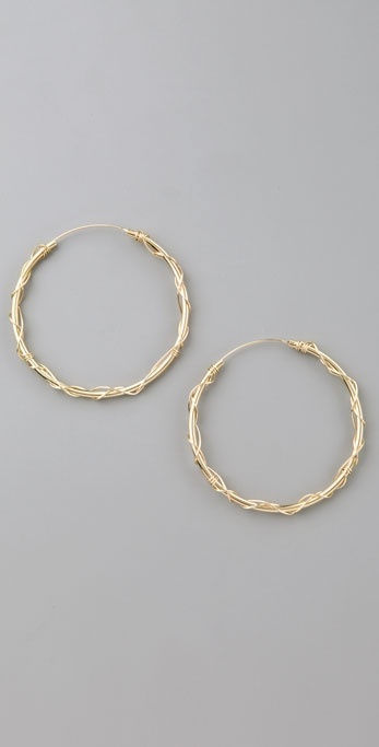 Jacquie Aiche Wire Wrapped Hoop Earrings