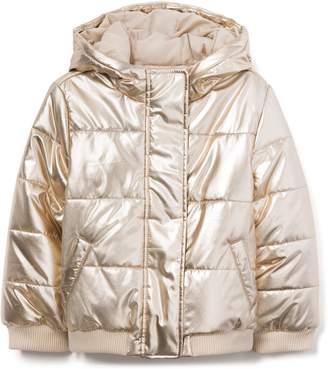 Crazy 8 Crazy8 Metallic Hooded Puffer Jacket