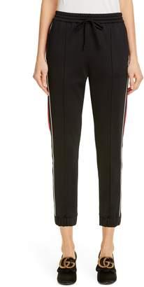 Gucci Web Stripe Technical Jersey Jogger Pants