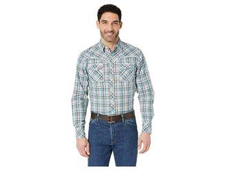 Wrangler Rock 47 Long Sleeve Plaid Snap