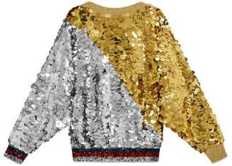 Gucci Gold and silver sequin top