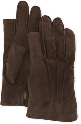 Guanti Giglio Fiorentino Three-Finger Suede Gloves