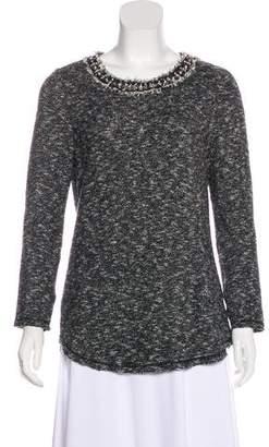 Rebecca Taylor Tweed Frayed Sweater