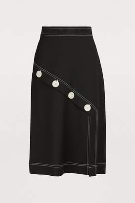 See by Chloe Buttons midi skirt