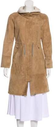 Brunello Cucinelli Suede Knee-Length Coat