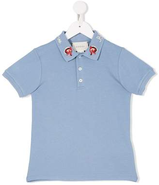 Gucci Kids embroidered collar polo shirt