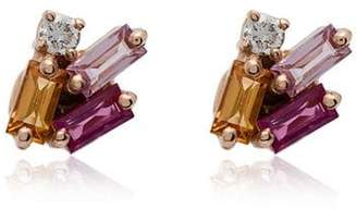 Suzanne Kalan Rainbow Sapphire Diamond Earrings