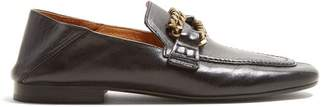 Isabel Marant Firlee Chain Trimmed Leather Loafers - Womens - Black