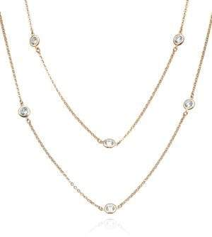 Crislu 18K Rose Gold Plated Layered Necklace