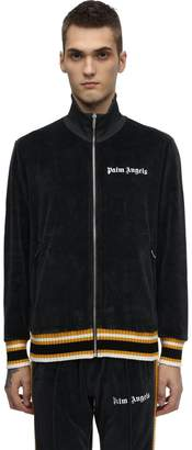 Palm Angels Zip Up Cotton Chenille Track Jacket