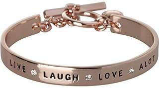 BCBGeneration BCBG Generation Rose Gold Crystal Live Laugh Love Cuff Bracelet