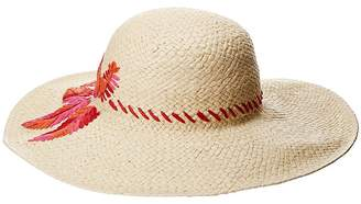 Lauren Ralph Lauren Sun Hat with Palm Embroidery Caps