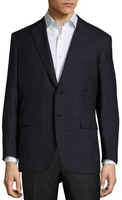 Brioni Brioni Escorial Checked Wool Sportscoat