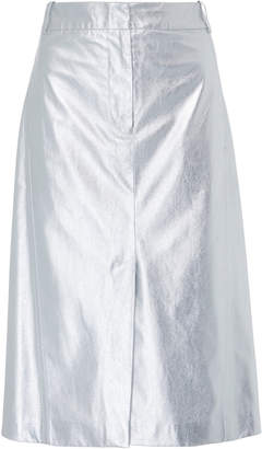 Tibi Tech Leather Skirt