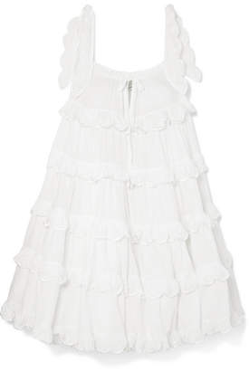 Off-White Innika Choo - Iva Tiered Linen Dress