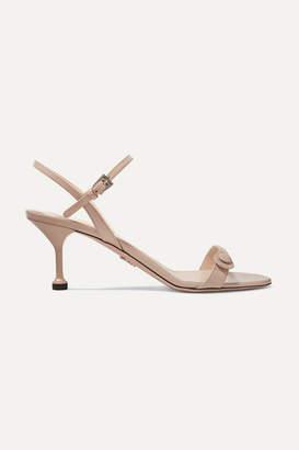 Prada 65 Leather Slingback Sandals - Neutral