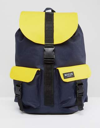 Nicce London rubberised backpack in yellow