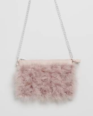 Missguided Feather Clutch Bag