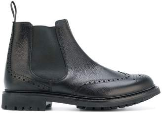 Church's brogue detail Chelsea boots