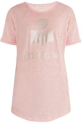 Etoile Isabel Marant Koldi logo-print burnout-jersey T-shirt