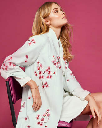 Ted Baker ISSAA Soft Blossom embroidered kimono coat