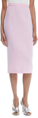 Roland Mouret Slim Straight Wool Midi Skirt w/ Back Zip