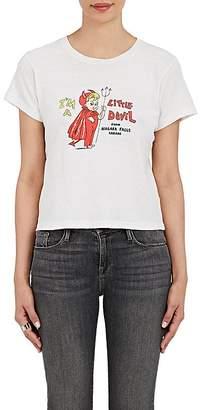 "RE/DONE Women's ""Little Devil From Niagara Falls"" Cotton T-Shirt"