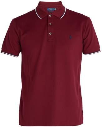 Polo Ralph Lauren Stripe-trimmed cotton-piqué polo shirt