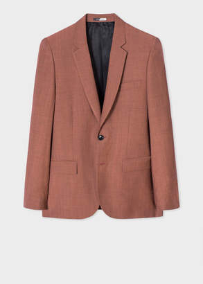 Paul Smith Men's Mid-Fit Light Red Wool-Mohair Blazer