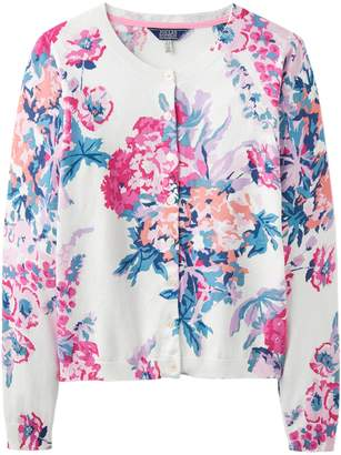 Next Womens Joules Cream Skye Printed Button Front Cardigan
