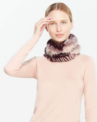 Jocelyn Plum Real Fur Cowl Scarf