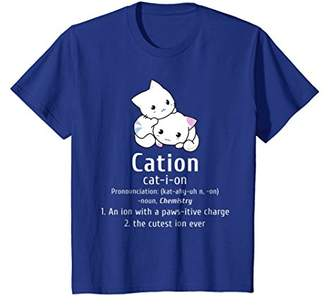 Cute Science Cat Cation Chemistry Pawsitive Element T-Shirt