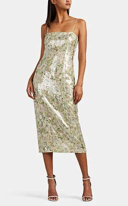 BY. Bonnie Young Women's Sequined Checked Silk Slipdress
