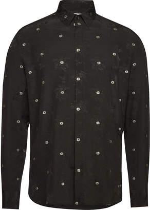 Saint Laurent Embroidered Silk Shirt
