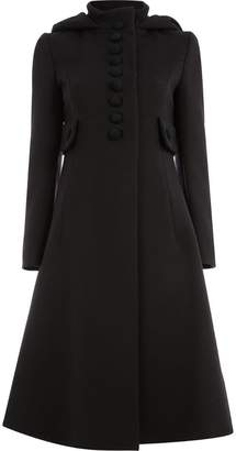 Gucci buttoned flared coat