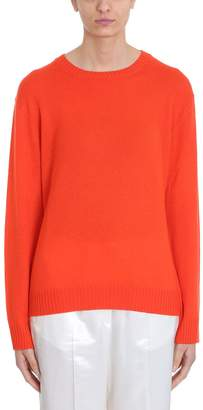 Jil Sander Red Wool Loose Fit Long Sleeve Jumper