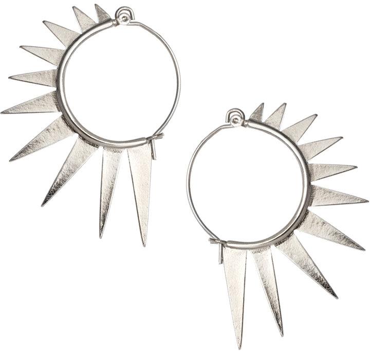 Asos Spiked Hoop Earrings