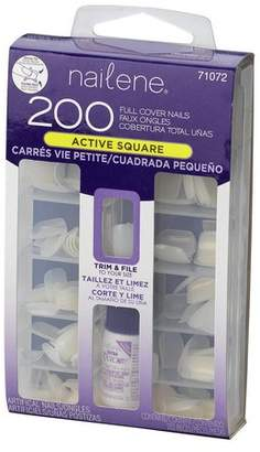 Nailene Pack of 200 Square Nails