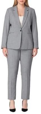 Tahari Arthur S. Levine Plaid Pant Suit