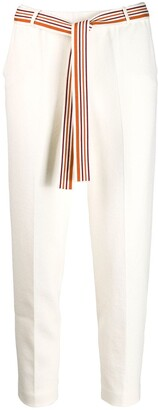 Loro Piana belted cropped trousers